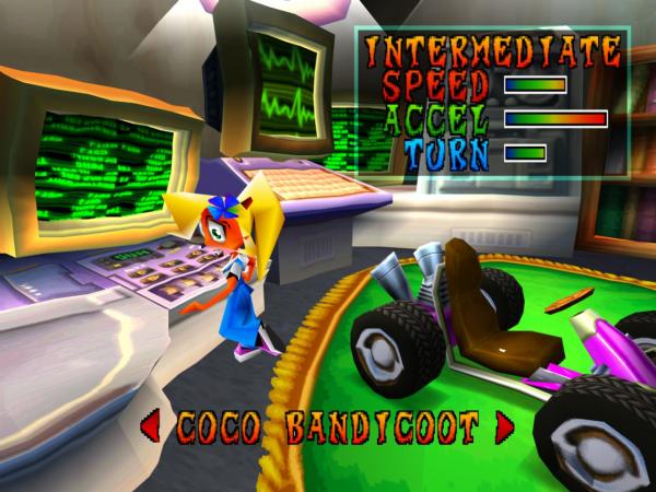 Crash Team Racing, Bandicoot