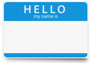 Hello, Welcome, Name Card, Identification