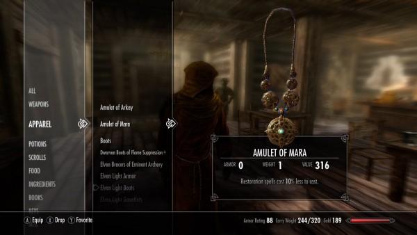 Skyrim, Elder Scrolls, Amulet of Mara