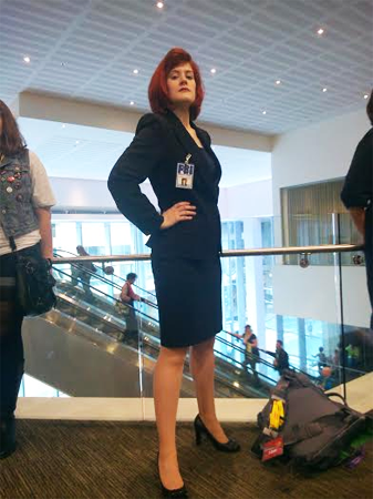 Anne as Agent Scully from The X-Files