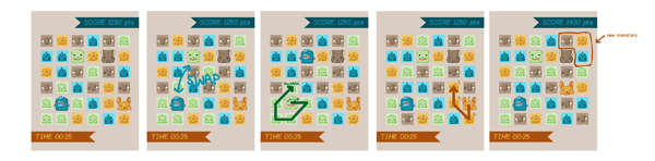 Prototypes of Omnomnom Game [click for larger]