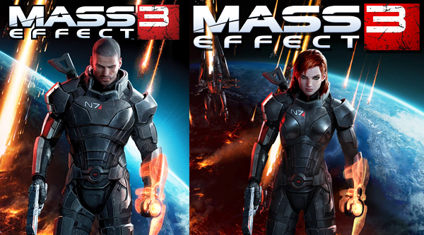 It took until the third game for Mass Effect's marketing to actually advertise the woman option.