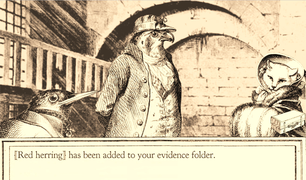 """""""{{Red herring}} has been added to your evidence folder."""""""