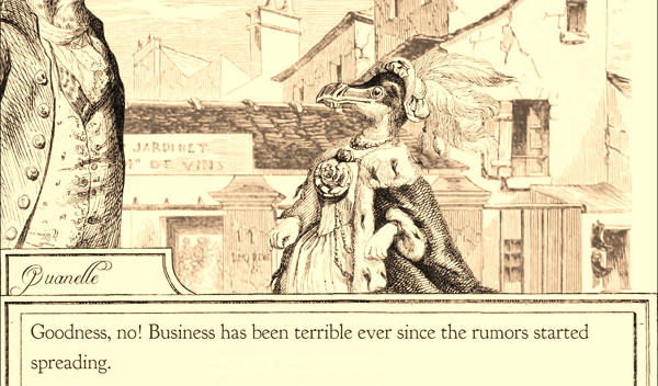 """Goodness, no! Business has been terrible ever since the rumors started spreading."""