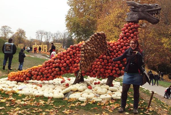 Dragon Made of Pumpkins in Ludwigsburg, Germany
