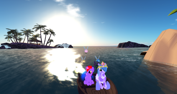 My male pony avatar (left), spending time with a new friend at the time