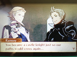 """You became a castle knight just so our paths would cross again ..."""