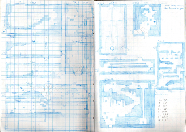 Level design sketches for Visual Out