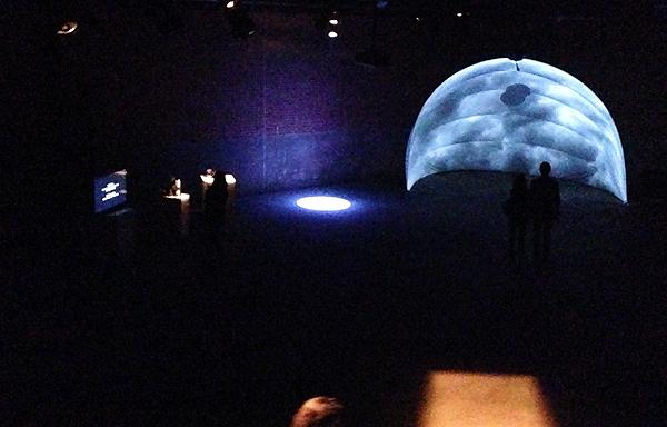 Hotaru, the Lightning Bug - Eyebeam Nov 2013 set up with Dome.